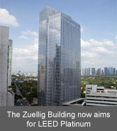 The Zuellig Building now aims for LEED Platinum certification.